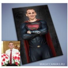 Портретна холсте Супермен