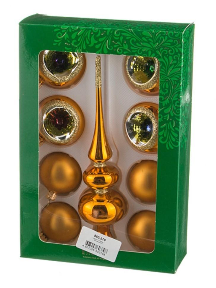 Набор елочных шаров с верхушкой  Плеяды