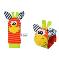 Набор детских носочков и напульсников с погремушками