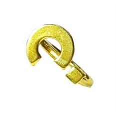 Кольцо Вопрос, позолоченное серебро