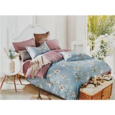 Комплект голубого постельного белья Жасмин