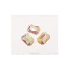 Стразы пришивные Астра, прямоугольные, серебристые, 6 шт