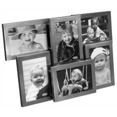 Коллаж из шести матовых фоторамок Екси Металл