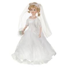 Фарфоровая кукла с мягконабивным туловищем Невеста