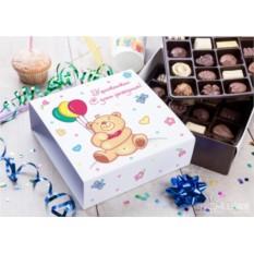 Бельгийский шоколад в подарочной упаковке Сладкий день рождения