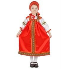 Русский народный костюм для детей из атласа Василиса