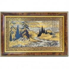 Золотая гравюра Горная речка