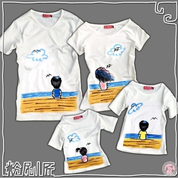Семейные футболки Любовь и море для родителей и дочки