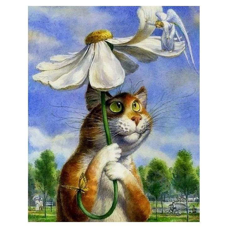 Картина-раскраска на холсте Любит!