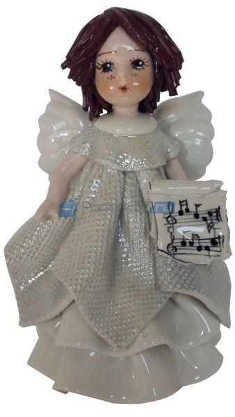 Фарфоровая статуэтка Ангел в белом с нотами от Zampiva