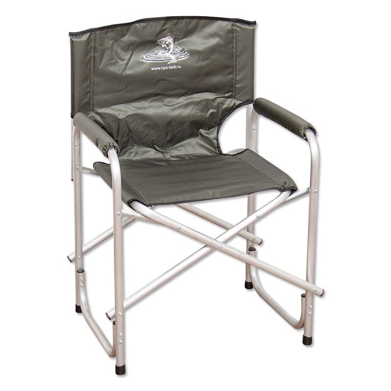 Серое складное кресло Кедр