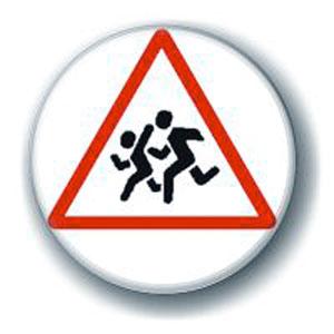 Значок «Осторожно, дети!»