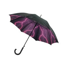 Зонт-трость «Молния», полуавтоматический с двухслойным куполом