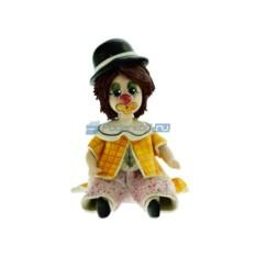 Статуэтка Клоун в шляпе, розовых штанах и оранжевой куртке