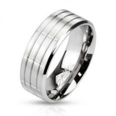 Мужское стальное кольцо Spikes