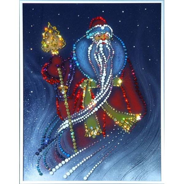 Картина Swarovski Дед Мороз