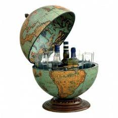 Глобус-бар Zoffoli настольный, голубой