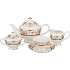 Чайный сервиз Золотые узоры на 6 персон