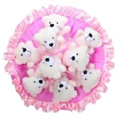 Букет из 9 игрушек Медвежата B155