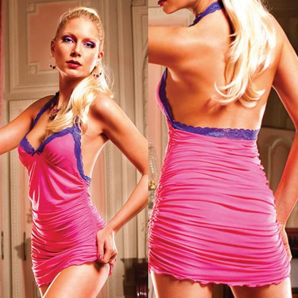 Мини-платье Barbie OS (42-46), розово-сиреневое