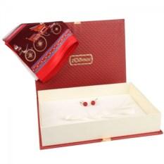 Подарочный набор: серьги и платок