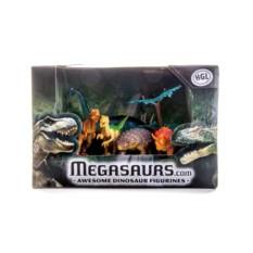 Игровой набор из 5 динозавров и дерева Megasaurs (HGL)