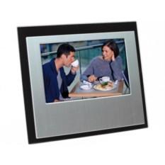 Серебристо-черная рамка для фотографии 10х15 см