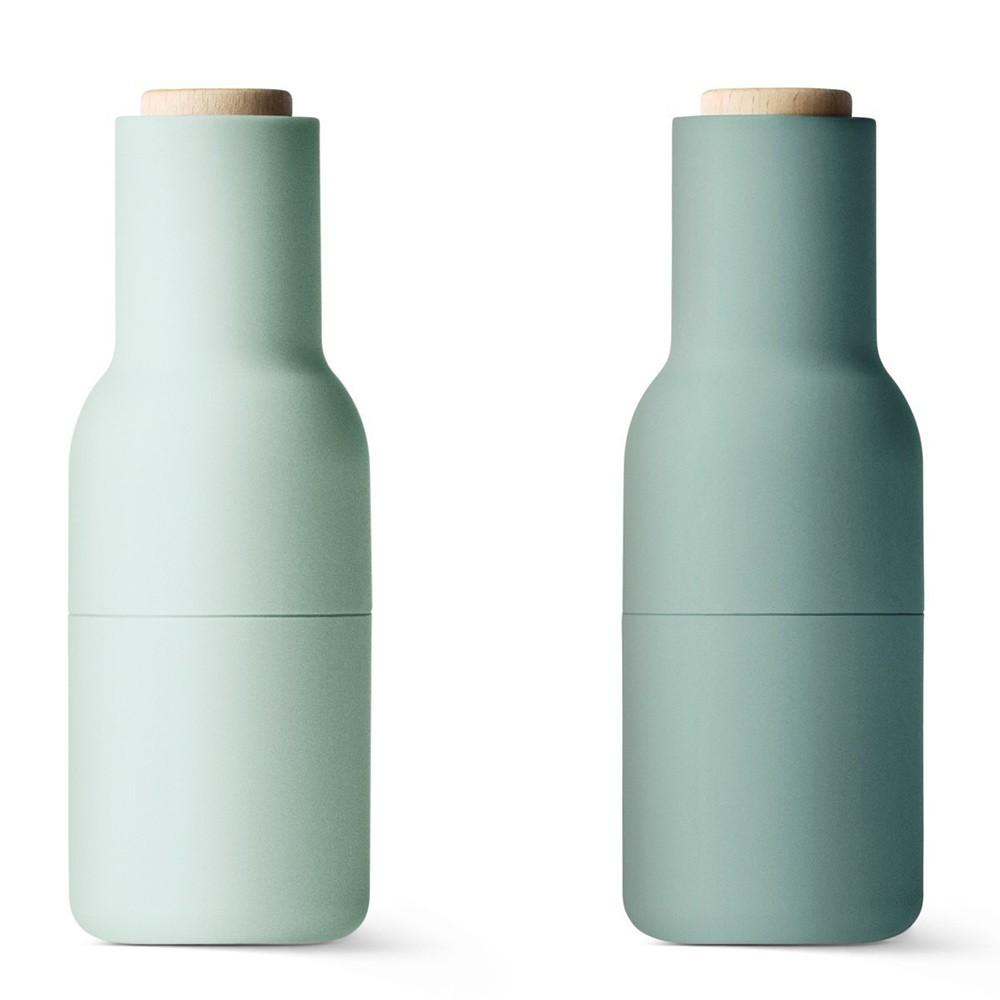 Зеленый набор мельниц для специй Bottle Mini
