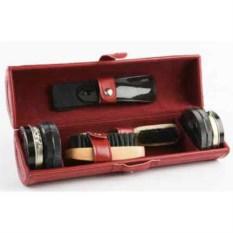 Бордовый набор для чистки обуви Сапфир