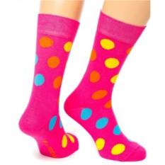 Розовые носки Friday Dots
