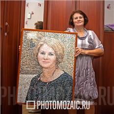 Фотомозаика в подарок женщине на день Матери