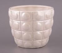Кашпо белая ваза