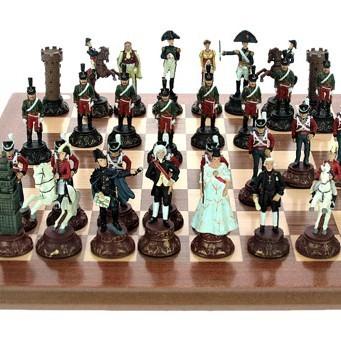 Шахматы из олова Воины в битве при Ватерлоо