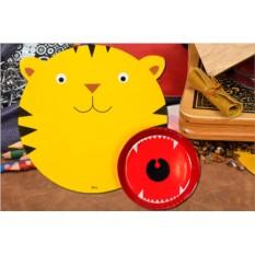 Детский набор из миски и сервировочного коврика Hungry tiger