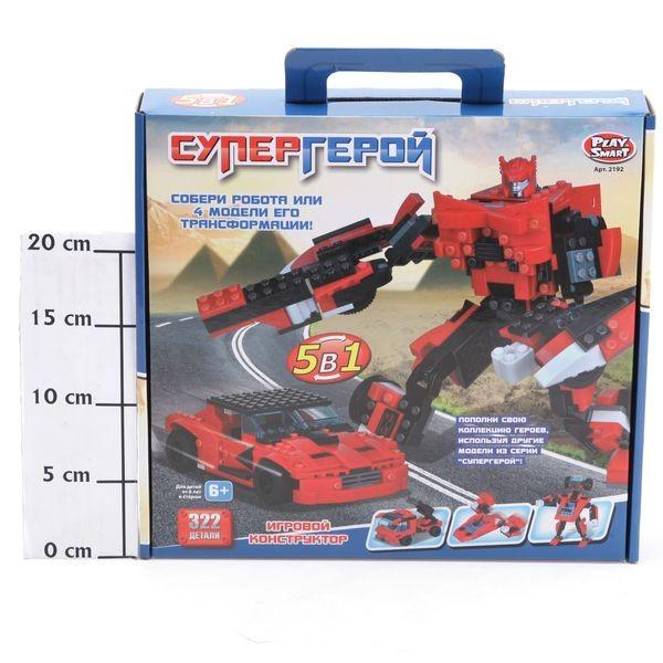 Конструктор 5 в 1 Робот-трансформер. Супергерой, 322 дет.