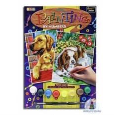 Картина по номерам с акриловыми красками «Собаки»