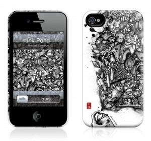 Чехол для iPhone 4/4S Gelaskins Ink Pond