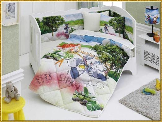 Детский комплект в кровать с бортиками V9