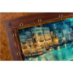 Картина из кожи Венеция Клод Моне (прямоугольная)