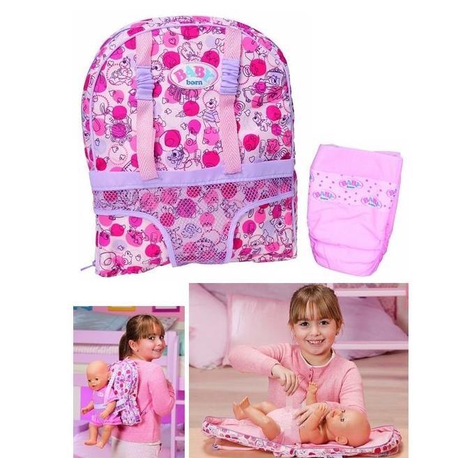 Рюкзачок-переноска и набор для пеленания Baby Born