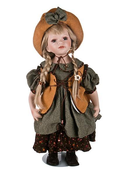 Фарфоровая кукла высотой 50 см