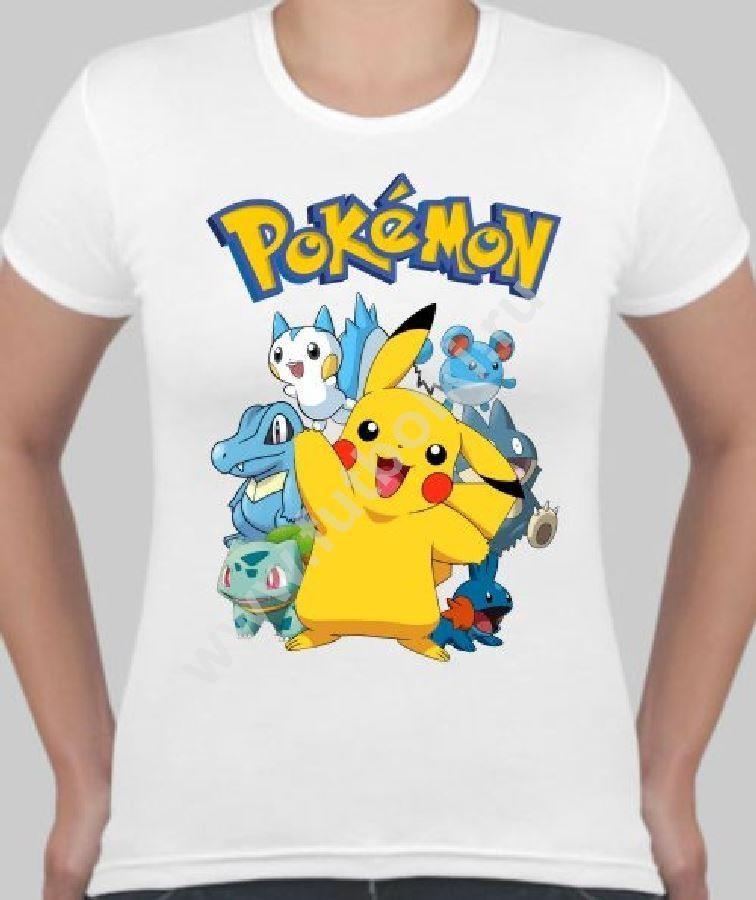 Женская футболка Покемоны
