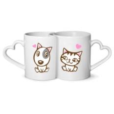 Парные кружки Kitty dog in love