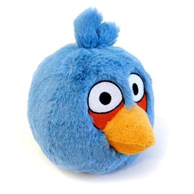 Мягкая игрушка Blue Angry Bird (синяя птичка)