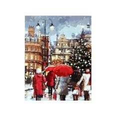 Картины по номерам «Рождественские покупки»
