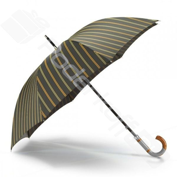 Зонт-трость мужской, с зеленой полосой