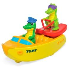 Игрушки для ванны TOMY BathToys Крокодил на водных лыжах