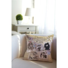 Декоративная именная подушка Shabby Chic
