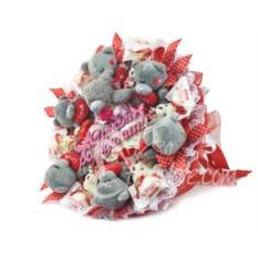 Букет из игрушек на день рождения с мишками Тедди