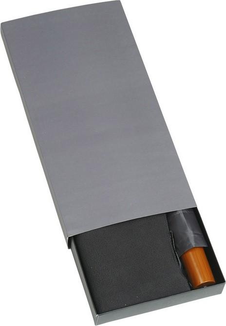 Набор: складной зонт и флисовый шарф в подарочной упаковке, серый